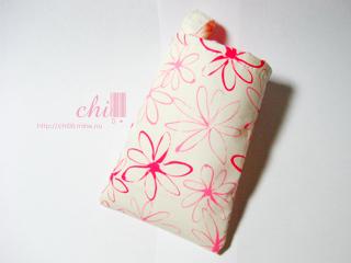 粉色花花 iPod 袋