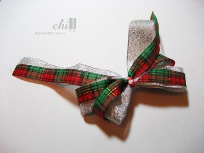 聖誕節風格的蝴蝶結髮飾