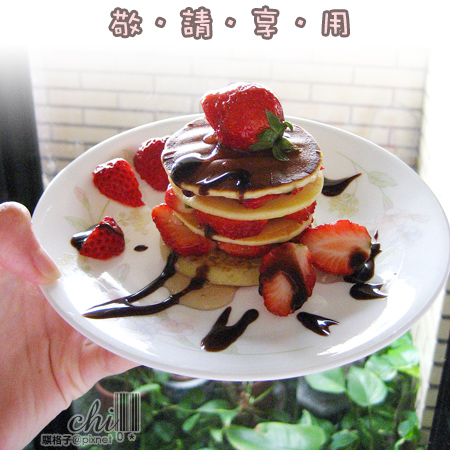 敬請享用~夢幻新鮮的草莓鬆餅塔