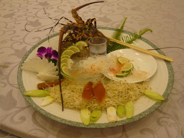 也被吃完的龍蝦沙西米