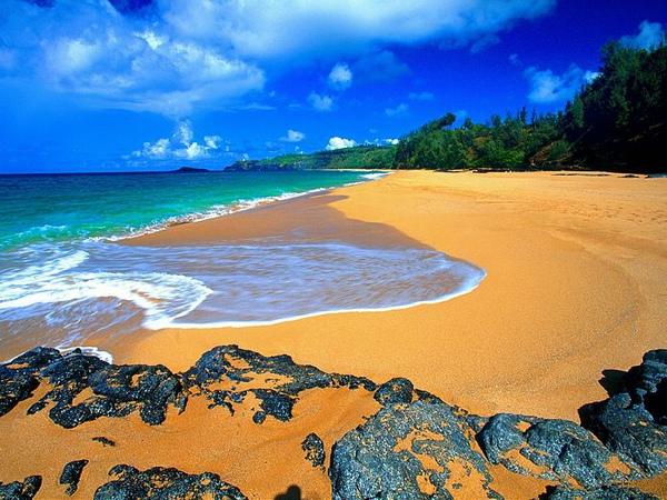 夏威夷:考艾岛幽静海滩