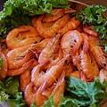 海霸王懷舊料理-圓籠蒸鮮蝦 (1)
