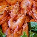 海霸王懷舊料理-圓籠蒸鮮蝦 (2)