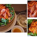 海霸王懷舊料理-圓籠蒸鮮蝦 (3)