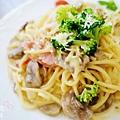 酷子美式餐廳-奶油培根義大利麵 (2)