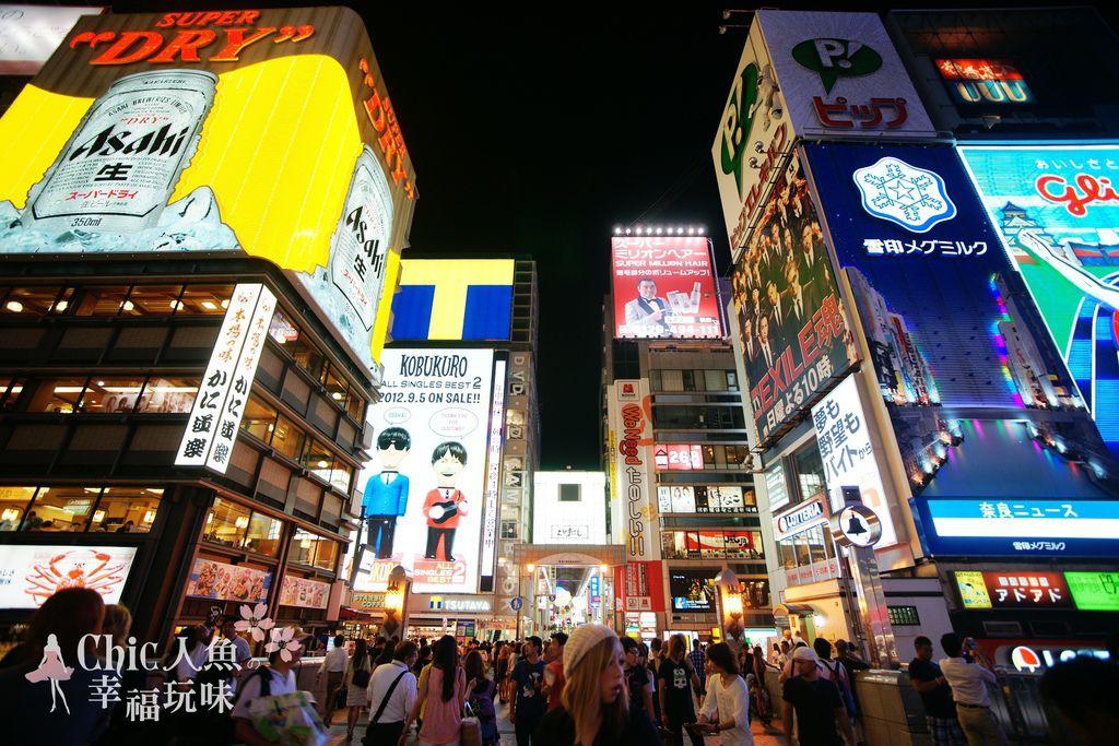 大阪。遊。道頓堀- 道頓堀之夜-惠比壽筋@ 桜の花見in日本京阪神
