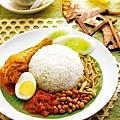 1.椰漿飯+咖哩雞Nasi Lemak with Curry Chicken