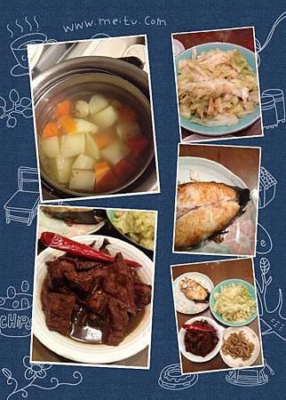 第一次下廚菜色!!