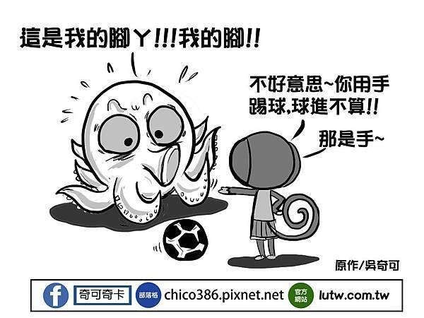 奇可奇卡瘋世足-章魚哥的困擾2