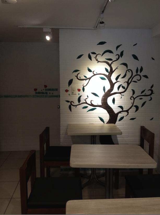 清新的用餐空間。