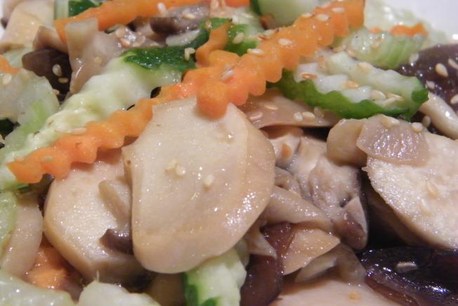 台東美食主餐-養生五行時蔬鮮近照(可素食)