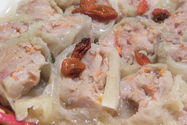 台東美食主餐-刺蔥碧玉捲近照