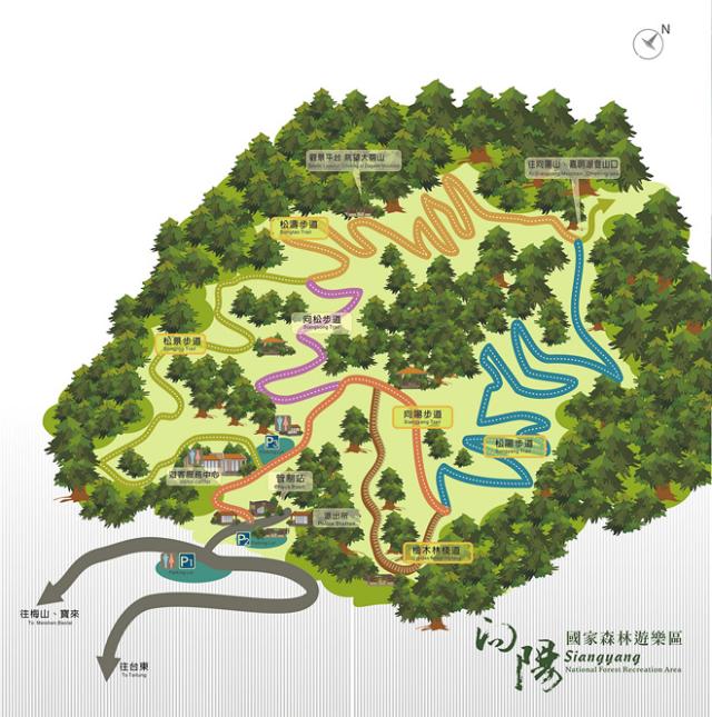 台東旅遊-向陽森林遊樂區地圖