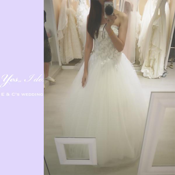 white 手工婚紗1
