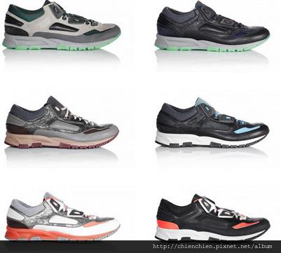 Lanvin neon & metallic leather sneakers