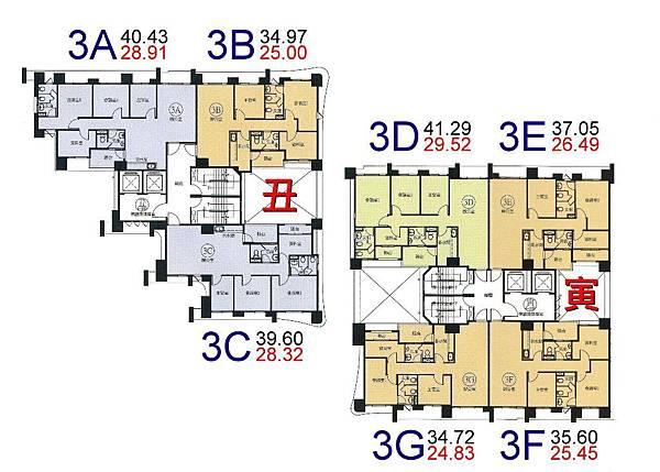 x24-環球市格局圖-3A.B.C.D.E.F.G棟