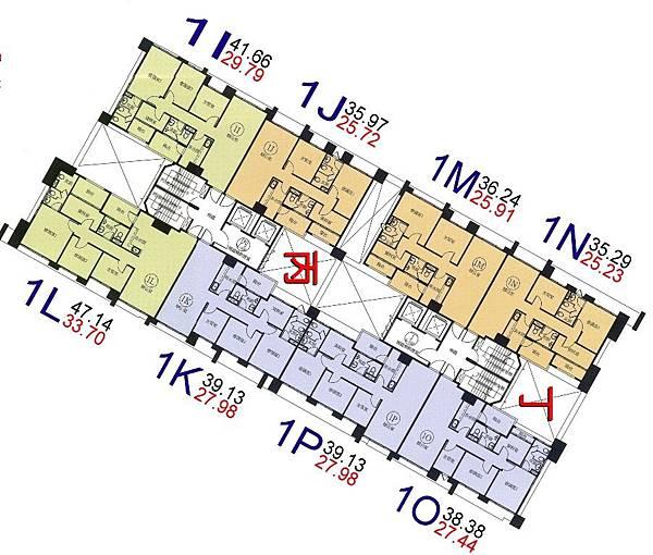 q17-環球市格局圖-1I.J.K..L.M.N.O.P棟