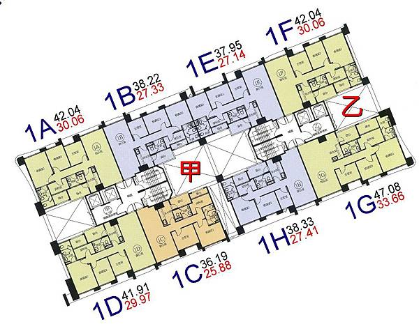 p16-環球市格局圖-1A.B.C.D.E.F.G.H棟