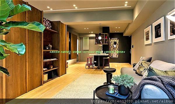 p16昌傑日日 樣品屋實景圖 (這間B戶原始格局為3房單位,設計師將客廳旁的次臥室,改為開放式的起居空間,放大公領域的視覺穿透,形成居住空間更為寬裕的2+1房機能。).jpg