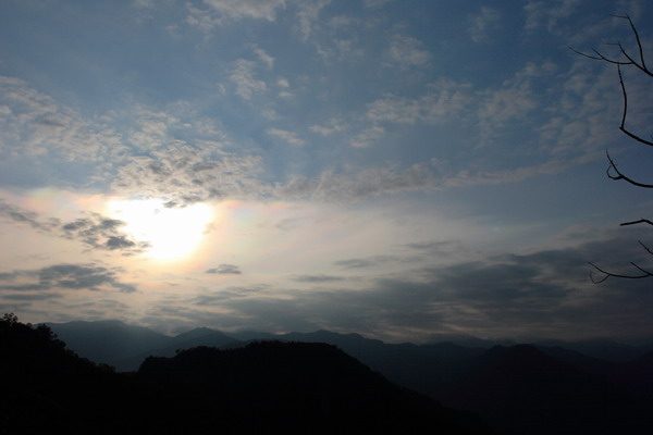 中途休息時的天空