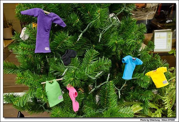 彩虹來了的聖誕樹造型