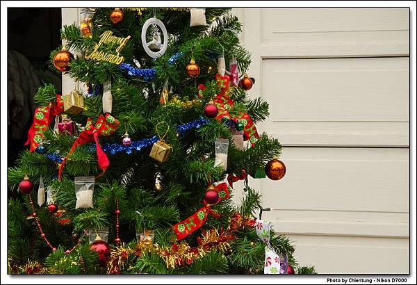 米店的聖誕樹造型