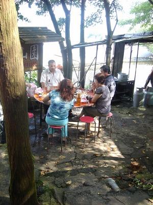 在森林裡面的餐廳