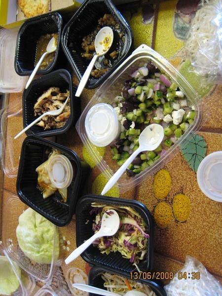 美國主管中午家裡Party的午餐