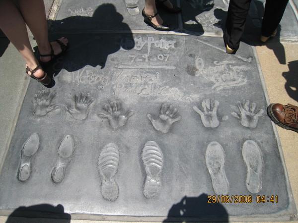 哈利波特演員手印和腳印