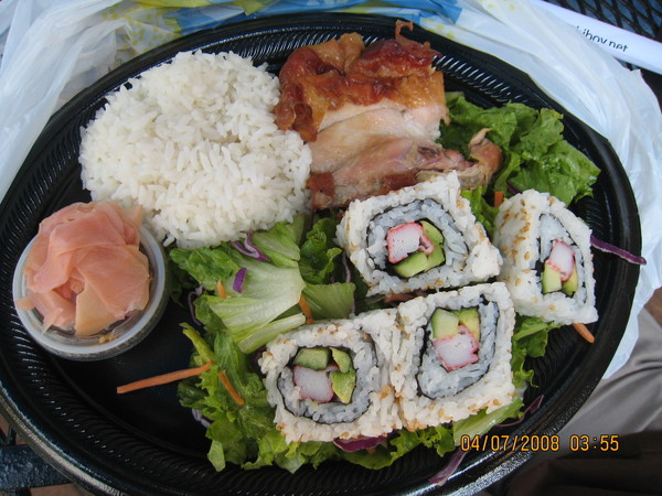 美國主管點的壽司組合餐