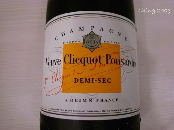 是白牌微甜香檳酒
