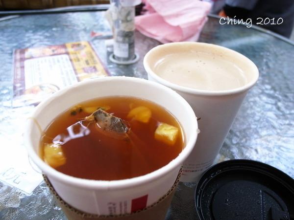 熱咖啡水果茶