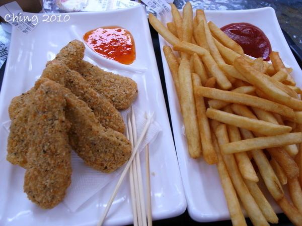 雞柳條和馬鈴薯