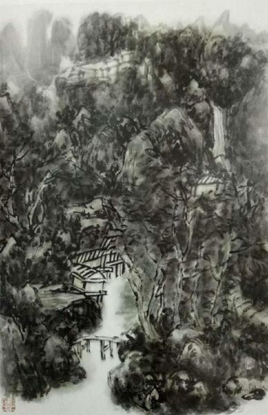 H.H.第三世多杰羌佛 中國畫 《暮近黃昏》.jpg