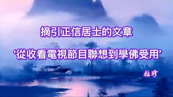 摘引正信居士的文章 '從收看電視節目聯想到學佛受用'.jpg