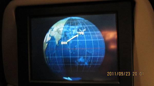 台北到曼谷的航線圖