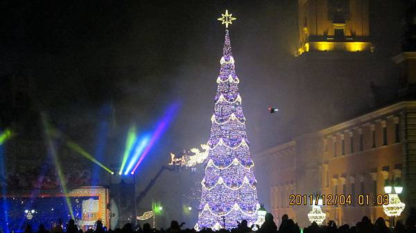 華沙舊城聖誕樹點燈儀式