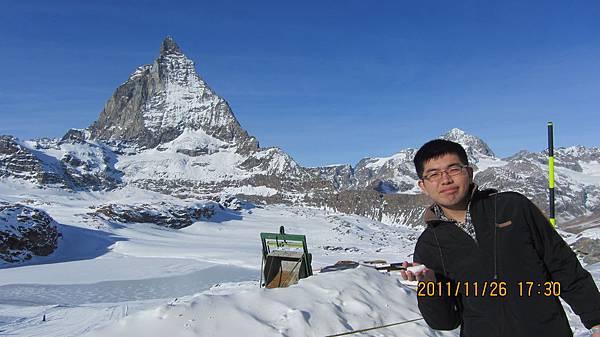 我與瑞士馬特洪峰合照