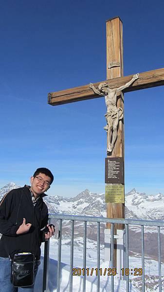 我與山頂的耶穌像