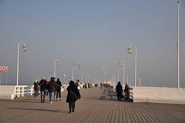 Sopot的海堤木棧道