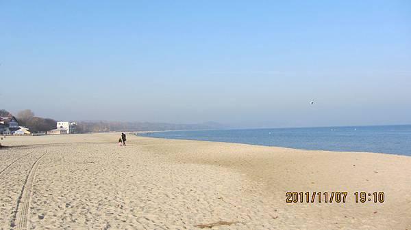 Sopot的沙灘美景
