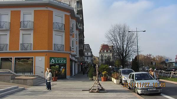 Evian的街道