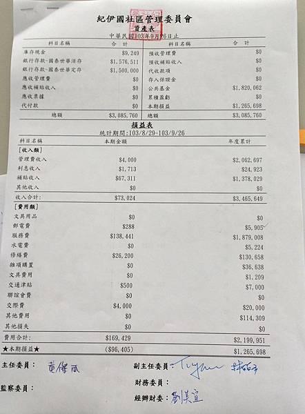 2014年9月財報