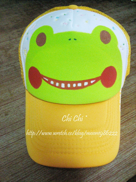 笑嘻嘻青蛙帽