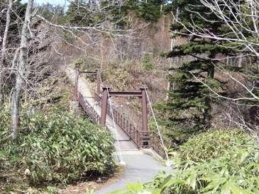 0514利尻島巡りー渓谷の吊り橋.JPG
