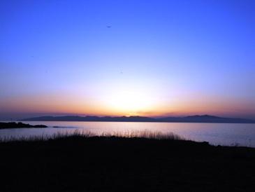 0514利尻島の夕日.JPG