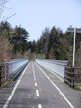 0515利尻島でのサイクリング(富士見橋).JPG