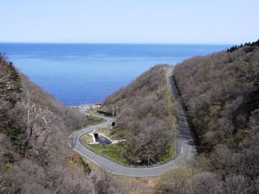 0515利尻島でのサイクリング途中.JPG