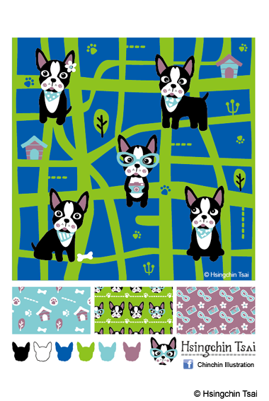 Cats and Dogs Pattern-Doggie Adventure(1)-01