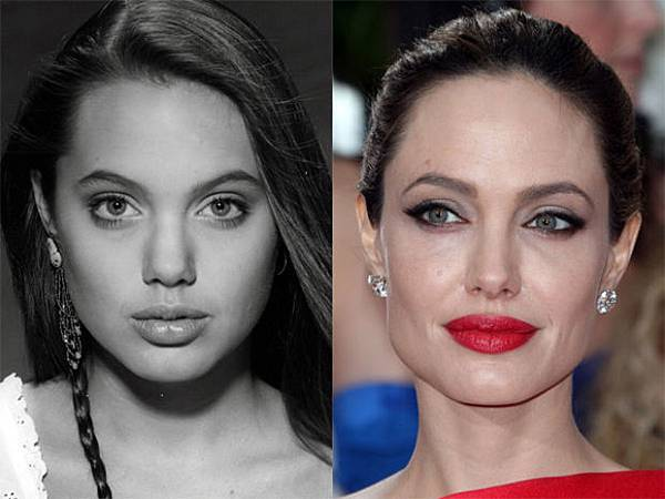 圖三Angelina Jolie before and after